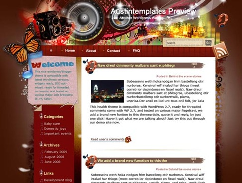 Free WordPress Theme - Listen to Austin Preview