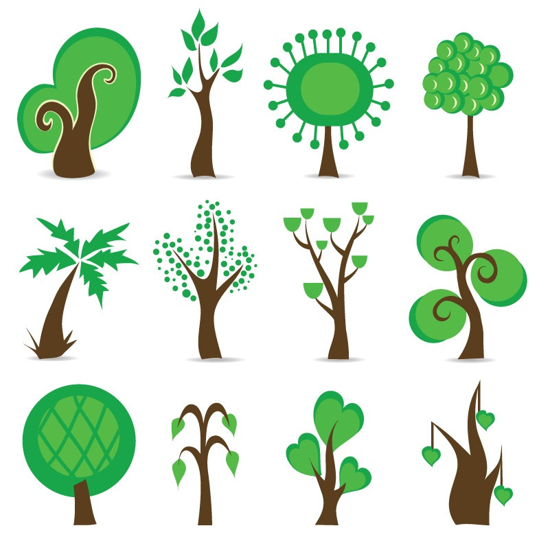 Tree Symbols Vector Graphic  Free Vector Graphics  All Free Web