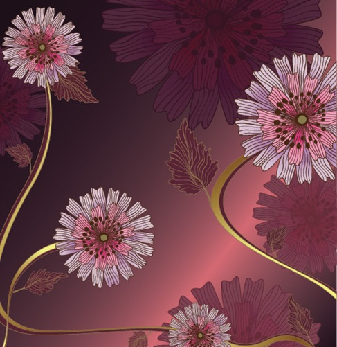 Vintage-Flower-Vector-Background