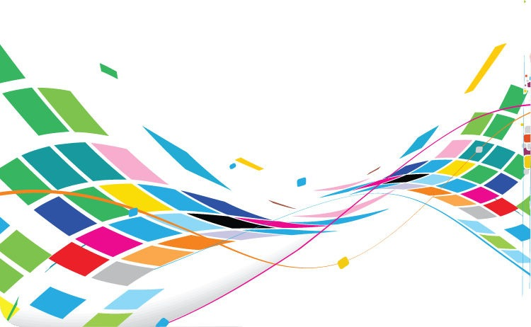 Abstract Wavy Design Colorful Background Vector Free
