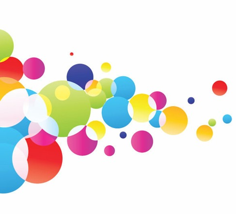 Colorful-Glowing-Bubbles-Background-Vector-Illustration