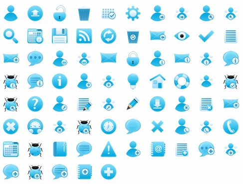Free Cool Bluish Icon Set