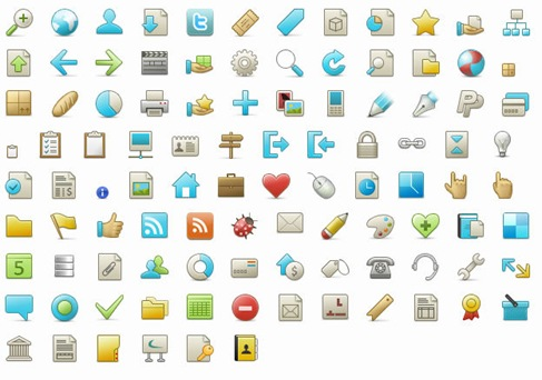 102 PNG Icons for Web Designer