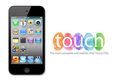 Apple iPod Touch 4G PSD Preview
