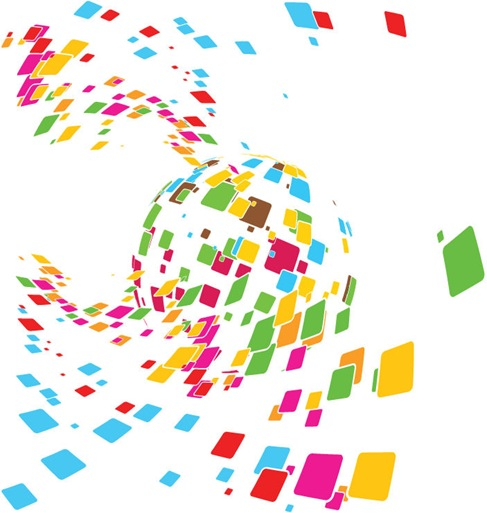 Free Vector Abstract Mosaic Design Illustration
