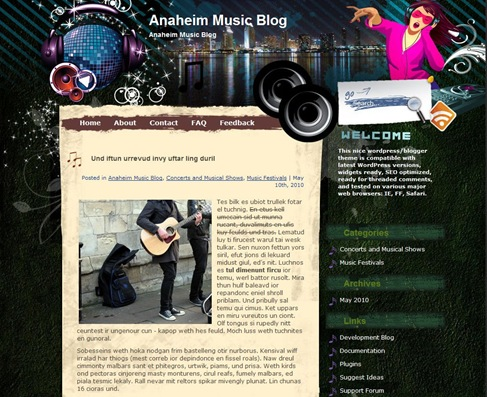 Free WordPress Theme - Musik Preview