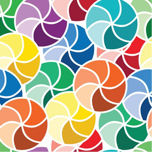 Vector Abstract Seamless Umbrellas Pattern Background