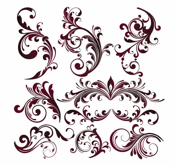Name: vector floral design elements