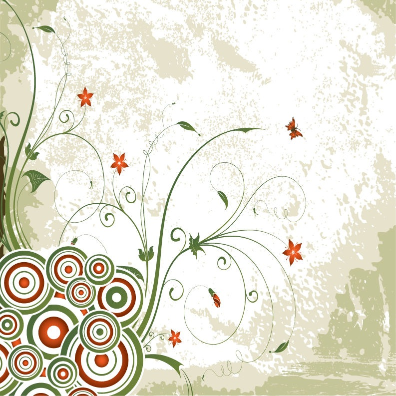 wallpaper vector flower. Floral Background Vector
