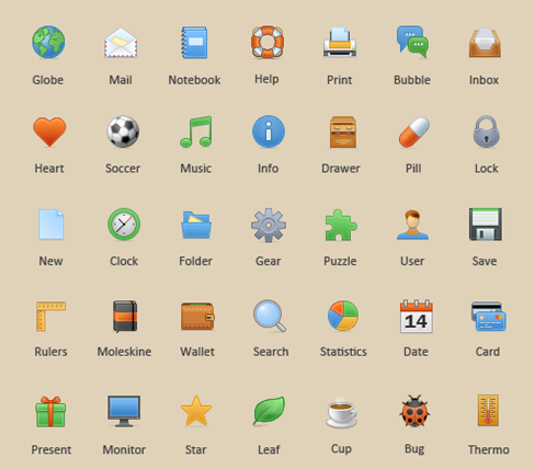 35 Toolbar Icons preview
