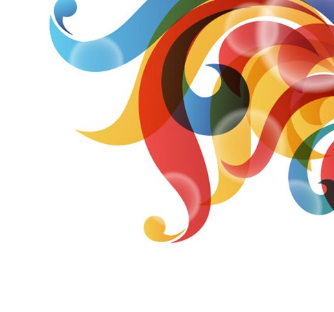 Vector Rainbow-colored Swirly Background