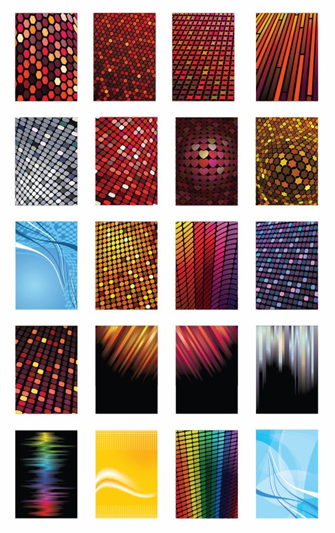 Vector Set of Various of Abstract Background