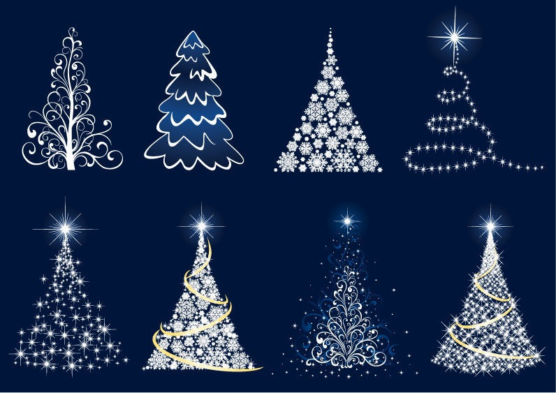 abstract christmas tree vector set free vector graphics all free web resources for designer web design hot web design hot