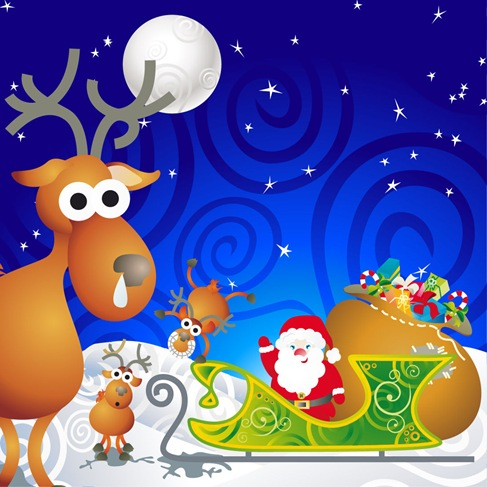 Cartoon Santa Vector Illustration