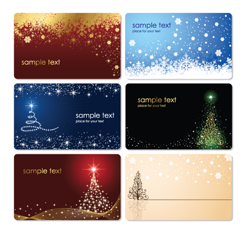 Christmas-Cards-Vector-Set