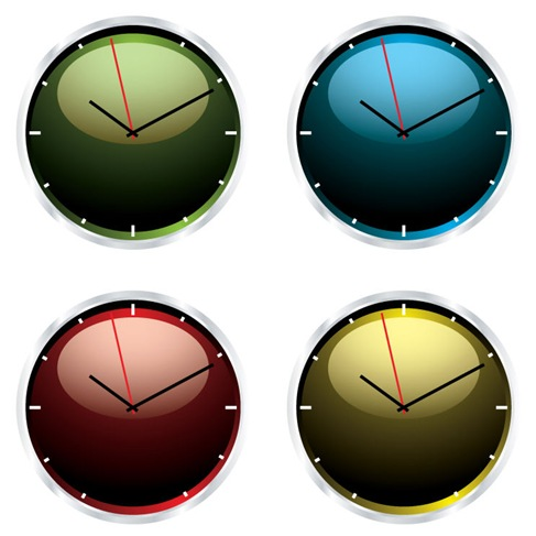 Clock Vector Illustrations