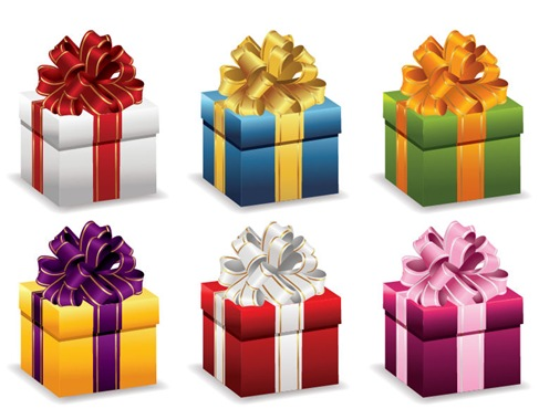 Gift Boxes with Ribbon Vector Illustration