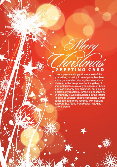Merry Christmas Greeting Cart Vector Illustration
