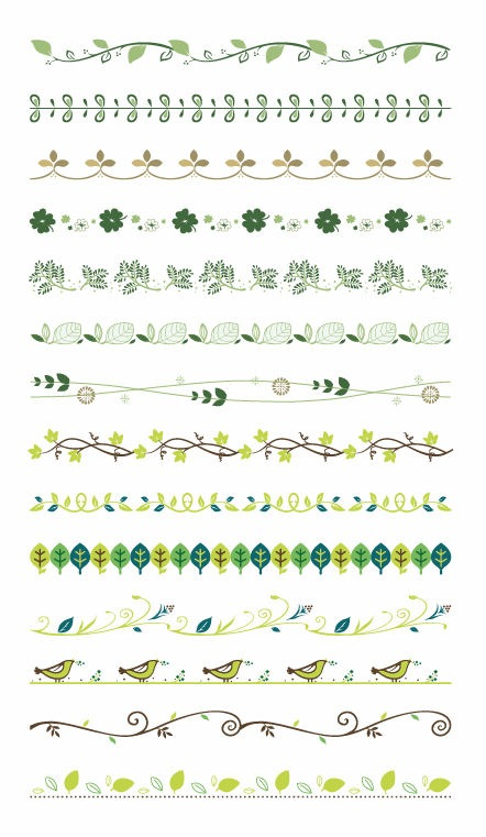 Vector Border Decoration Design Elements