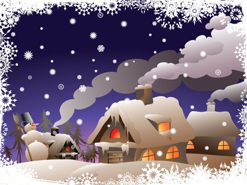 Winter Christmas Vector Illustration