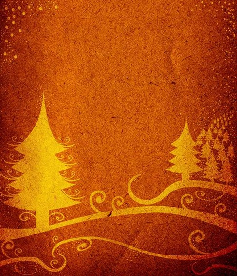 Abstract Glowing Christmas Tree Vector Art Preview