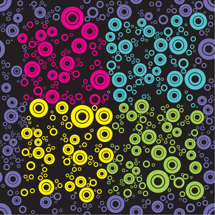 Abstract Seamless Retro Pattern Background Vector Illustration