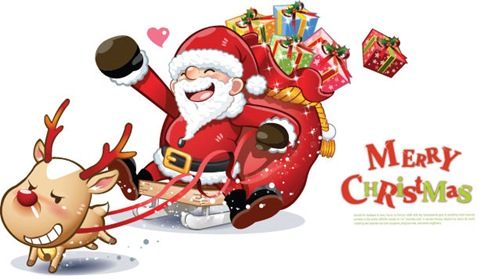 Lovely Santa Claus Vector Graphics 1