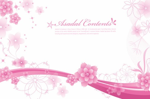 Simple and Elegant Floral Background Vector Graphics 03
