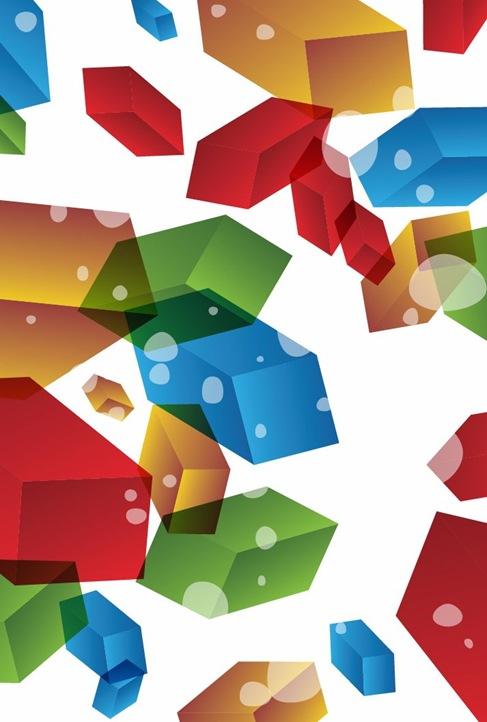 3D Abstract Background Vector Illustration