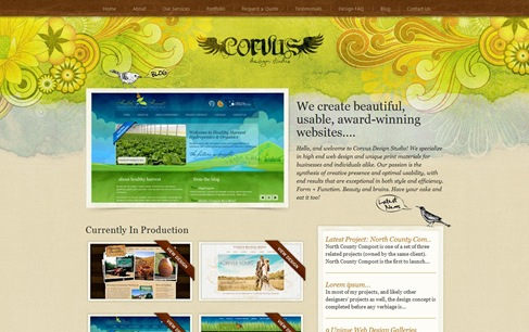 Creative Website Designs for Your Inspiration - corvusart