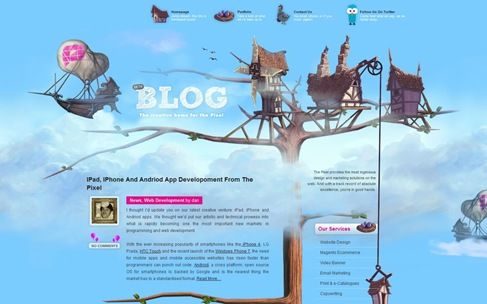 Creative Website Designs for Your Inspiration - thepixel blog