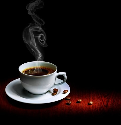 Cup of Hot Drink with Steam on The Table Preview