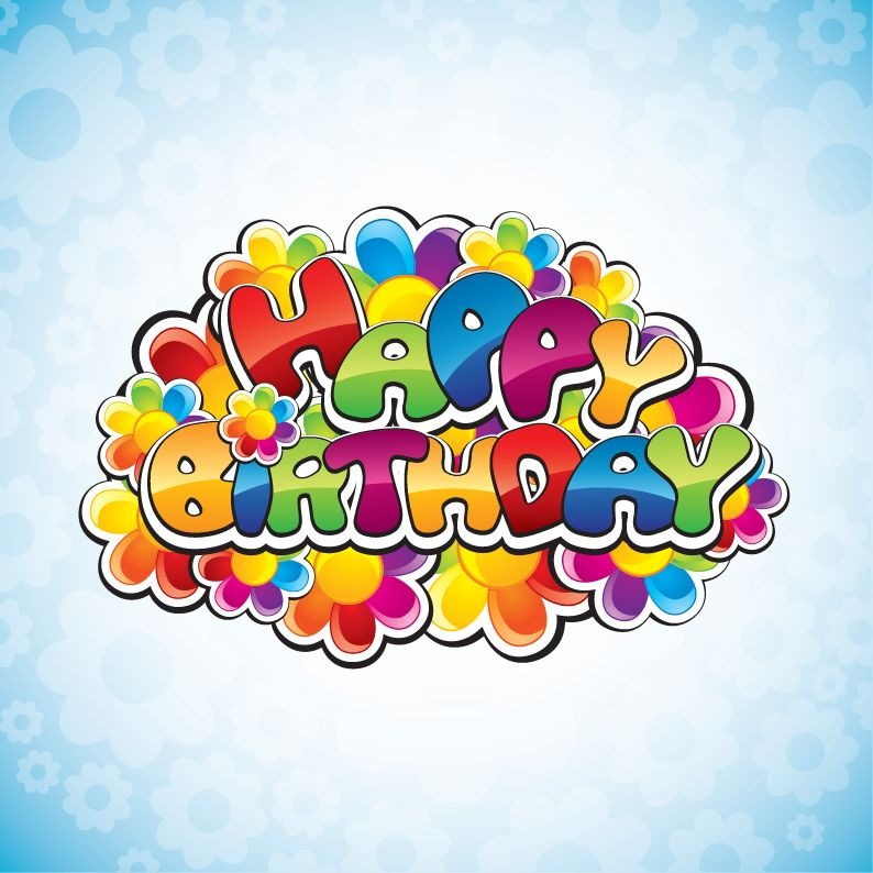Name happy birthday vector illustration