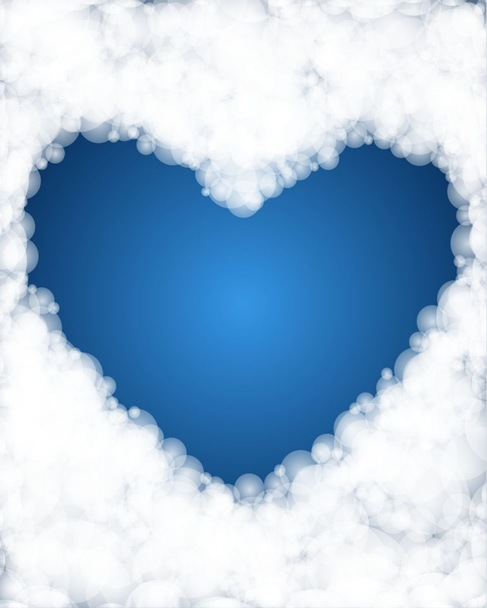 Heart Shaped Vector Background