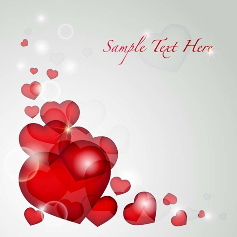 Valentines Day Heart Card Vector