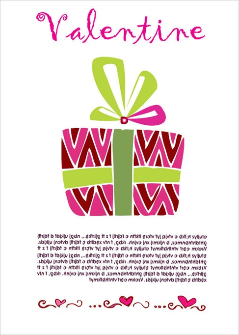 Valentine's Gift Card Vector Illustration