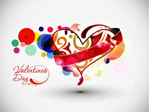 Abstract Valentines Day Vector Art