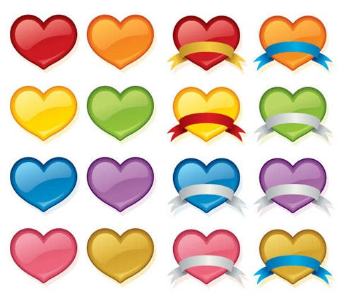 Vector Love Heart Set