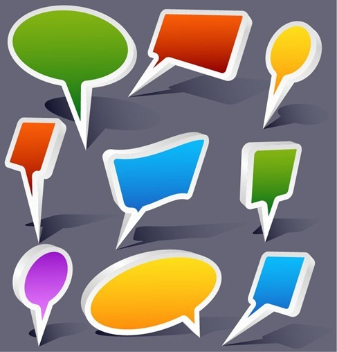 3D Bubble Speech Vector
