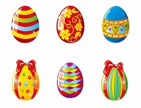 Colorful Easter Eggs Vector Illustration