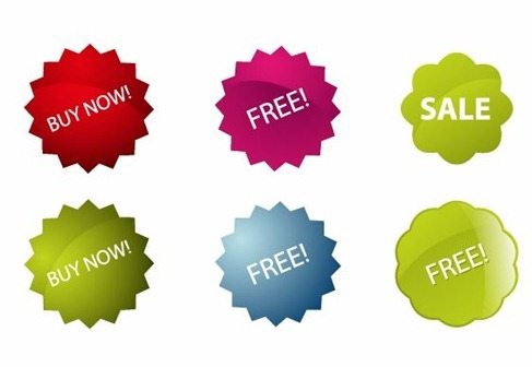 Colorful Vector Sale Stickers