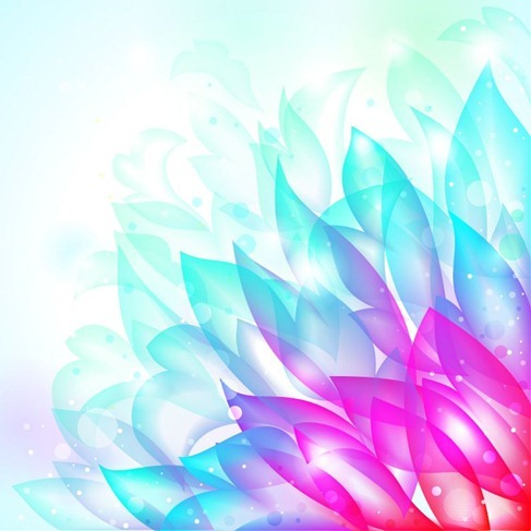 Dream Flower Vector Background