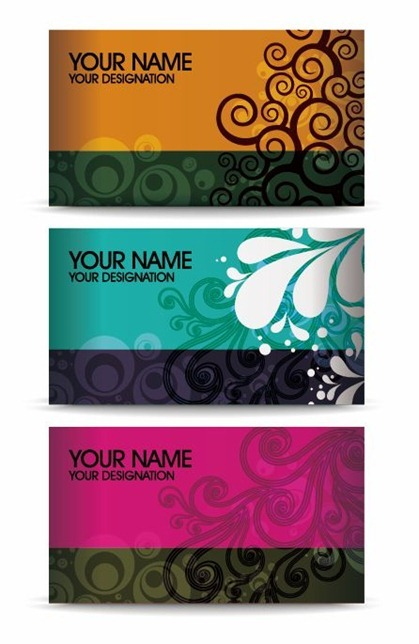 Elegant Floral Business Card Vector