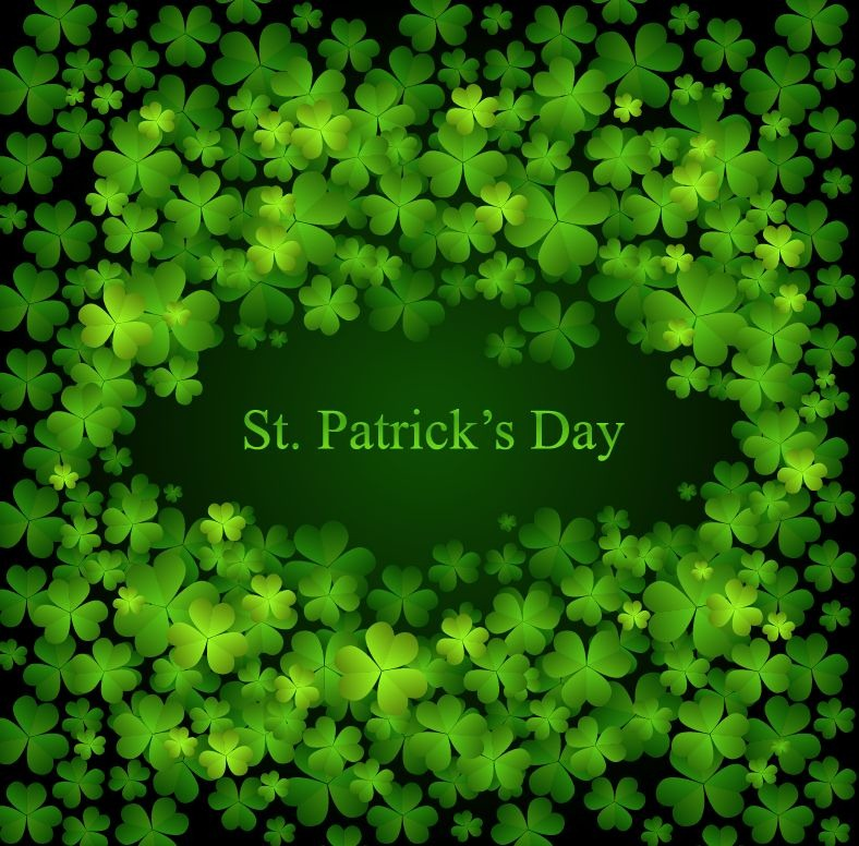 patricks day shamrock background-#8