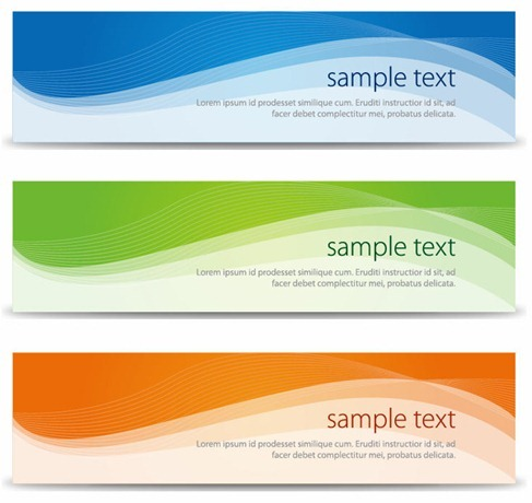 Abstract Banners Set Vector Illustration