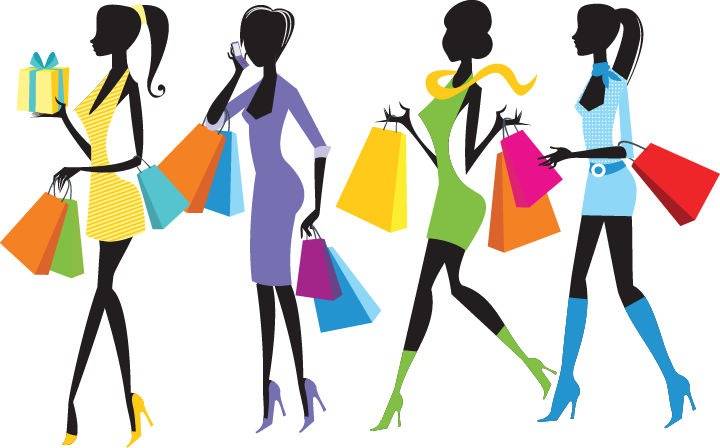 Name: Fashion Shopping Girls Illustration