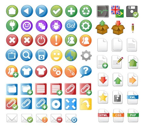 Vector Icon Set for Web Design