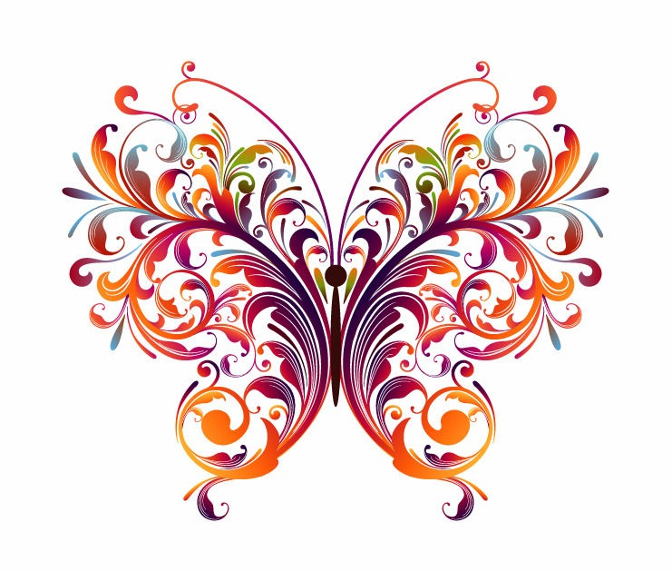 this is a vector of abstract floral butterfly includes a eps file