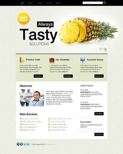 Free CSS Web Template - City Business