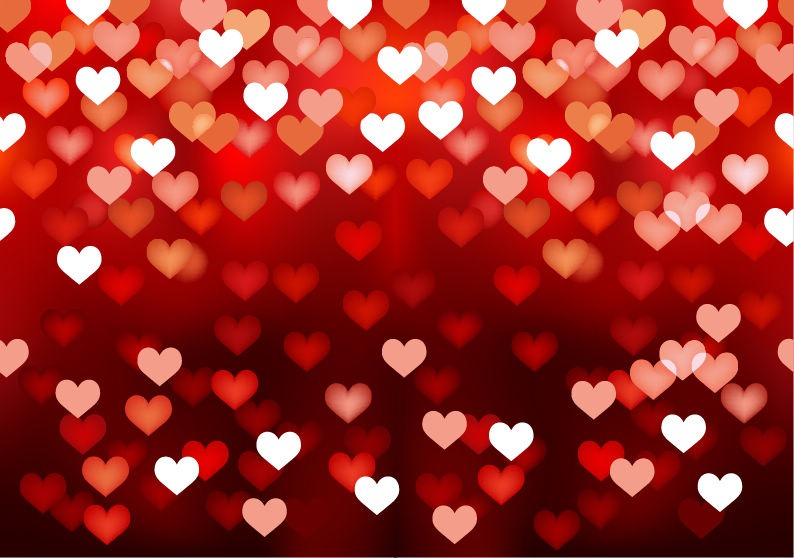 Name abstract love heart background